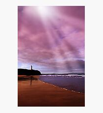 ballybunion beach castle and waves Photographic Print