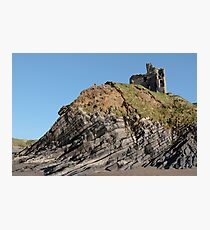 ballybunion castle on the cliff Photographic Print