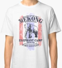 Mekong Expedition - Elephant Camp - Thailand Flag Classic T-Shirt