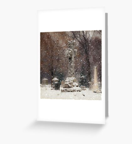 Snow is Falling Greeting Card