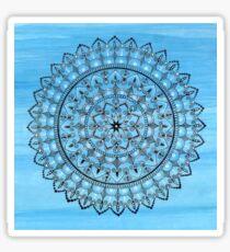 Hand Drawn Intricate Blue Mandala Sticker