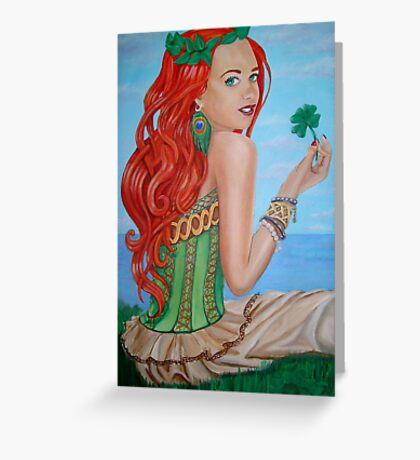 Julia's Four Leaf Clover Greeting Card