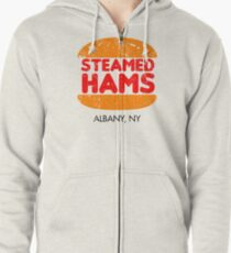 Retro Steamed Hams Zipped Hoodie