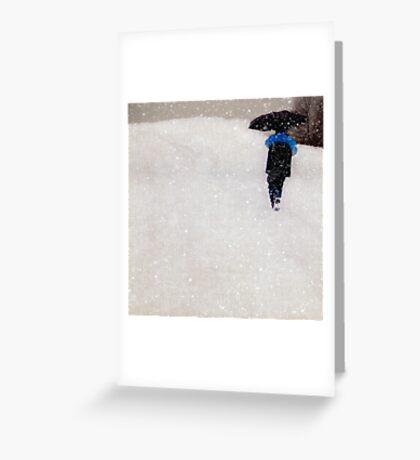 Snow is Fleeting Greeting Card