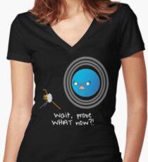 Uranus: Probe What Now? Women's Fitted V-Neck T-Shirt