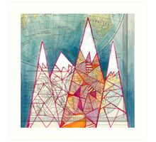 The Geometry of Geography Art Print