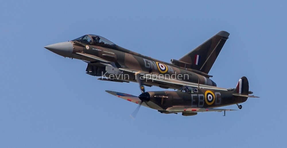 Spitfire & Typhoon formation RIAT2015 by Kevin Tappenden