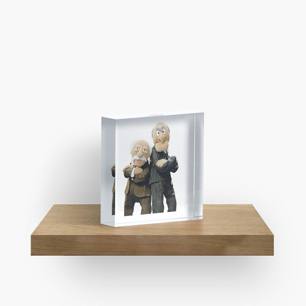 Statler and Waldorf Acrylic Block