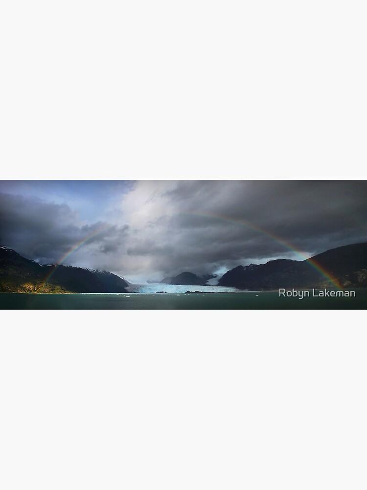 Rainbow over Amalia glacier  by Rivergirl