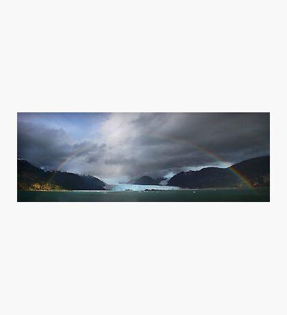 Rainbow over Amalia glacier  Photographic Print