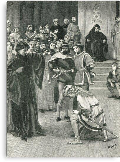 Joan of Arc kneeling before Charles VII Circa 1429 by artfromthepast