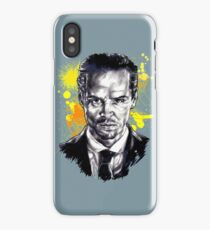 Jim Moriarty + paint iPhone Case/Skin