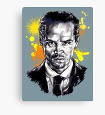 Jim Moriarty + paint Canvas Print