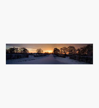 Beautiful Cheshire Sunrise Photographic Print