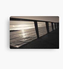 Sunrise On Pier Canvas Print