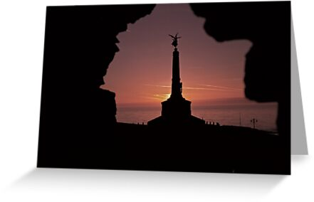 Classic Welsh Castle Sunset over Cardigan Bay by Adam Costello