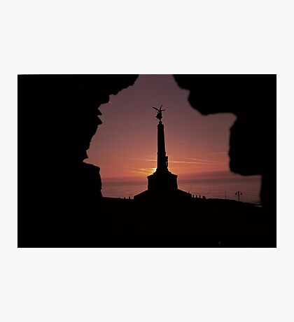 Classic Welsh Castle Sunset over Cardigan Bay Photographic Print