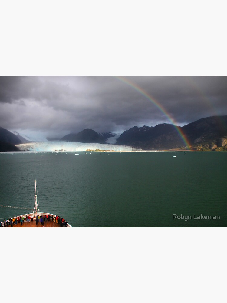 Rainbow over Amalia glacier II by Rivergirl