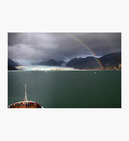 Rainbow over Amalia glacier II Photographic Print