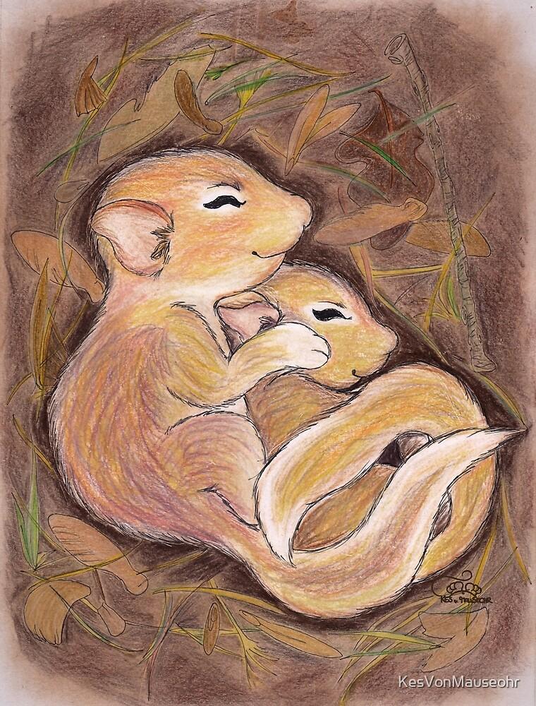 Autumn cuddling ~ Cuddling in Autumn by KesVonMauseohr