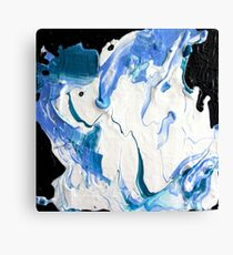 Blue, Black & White  Canvas Print