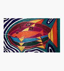 Dali fish - original work on soft wood Photographic Print