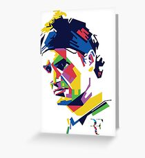 Roger Federer art Greeting Card