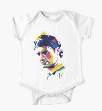 Body de manga corta para bebé Arte de Roger Federer