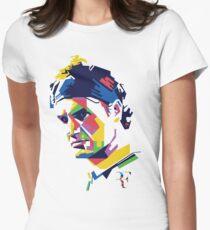 Roger Federer art Women's Fitted T-Shirt