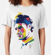 Roger Federer art Slim Fit T-Shirt