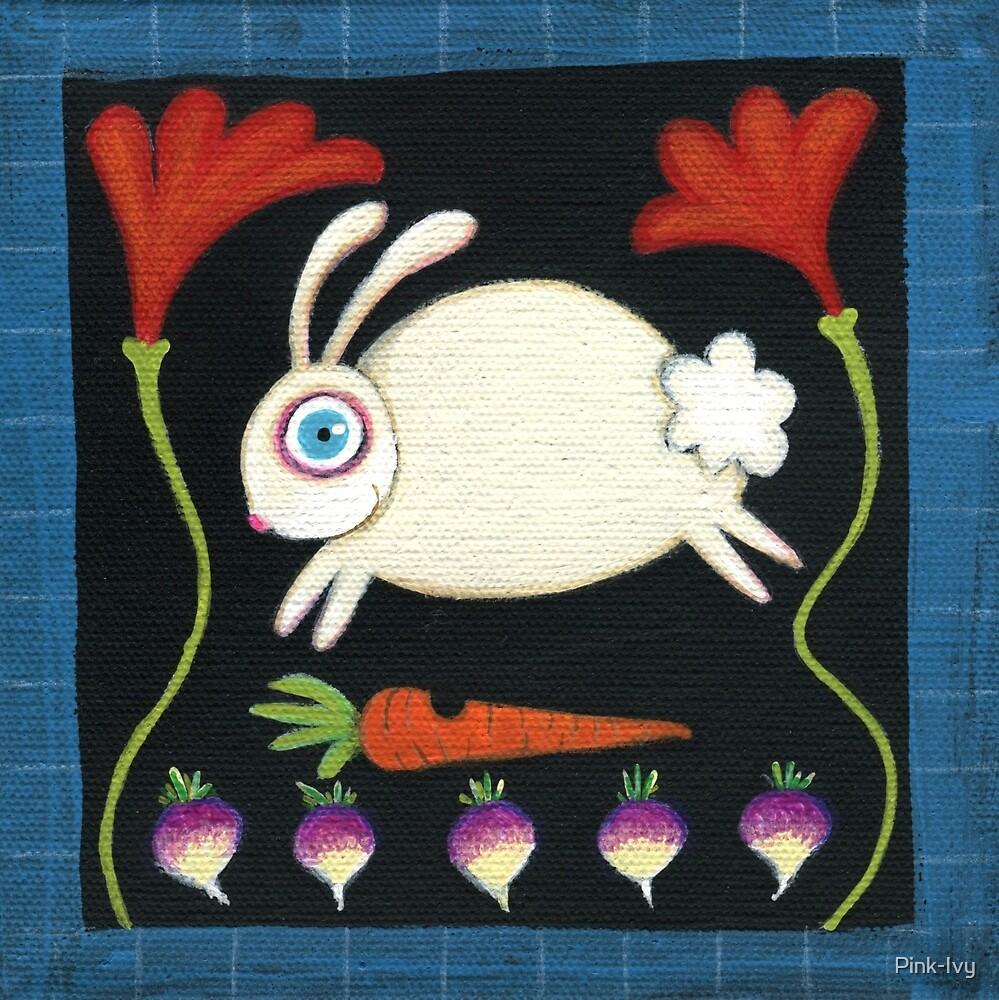 White Rabbit in the Garden by Pink-Ivy