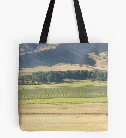 Alfalfa Field in Montana Tote Bag
