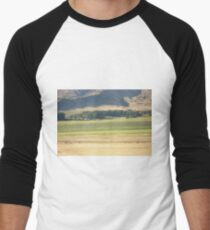 Alfalfa Field in Montana Men's Baseball ¾ T-Shirt