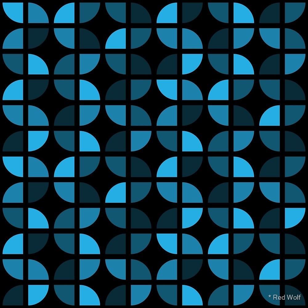 Geometric Pattern: Quarter Circle: Dark/Blue by * Red Wolf
