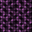 Geometric Pattern: Quarter Circle: Dark/Purple by * Red Wolf