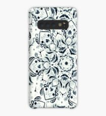 Stained Glass Mandala - Navy & White  Case/Skin for Samsung Galaxy