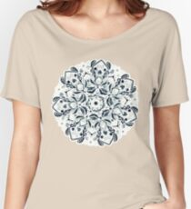Stained Glass Mandala - Navy & White  Relaxed Fit T-Shirt