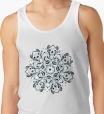 Stained Glass Mandala - Navy & White  Tank Top