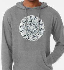 Stained Glass Mandala - Navy & White  Lightweight Hoodie