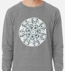 Stained Glass Mandala - Navy & White  Lightweight Sweatshirt