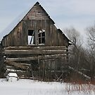 Square Timber Log Cabin by LaBud