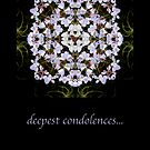 deepest condolences by notecards