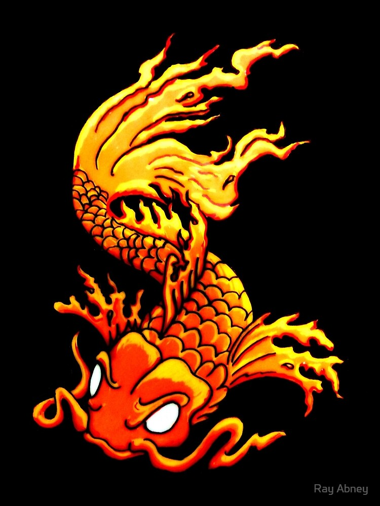 Japanese Koi fish tattoo art  by Ray Abney