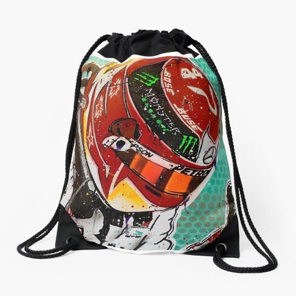 Lewis Hamilton 2019 F1 graffiti painting by DRAutoArt - No.2 Drawstring Bag