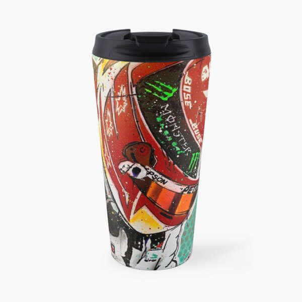 Lewis Hamilton 2019 F1 graffiti painting by DRAutoArt - No.2 Travel Mug