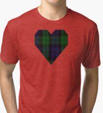 00267 Grant Hunting or Black Watch Military Tartan Tri-blend T-Shirt