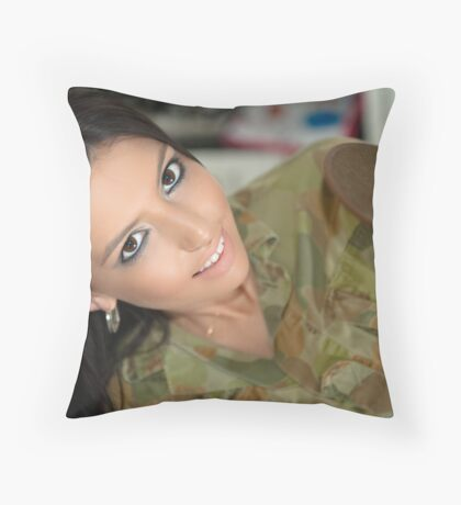 Serving not my country, but my man Throw Pillow