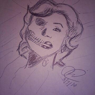 Half Marilyn Half Skull  by rmoses2015