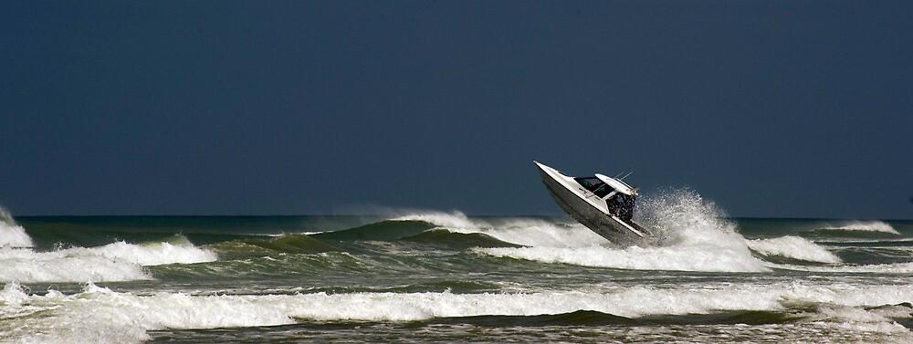 Very crazy or very experienced??  - Baylys Beach NZ by Jenny Dean