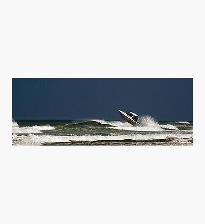 Very crazy or very experienced??  - Baylys Beach NZ Photographic Print